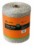 Gallagher North America G62089 Electric Fence Turbo Wire, Ultra White, 1/16-In. x 2,624-Ft.