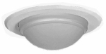 Cooper Lighting 5054PS Halo Shower Lens Dome, White, 5-In.