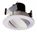 Cooper Lighting RA406930WHR LED Retrofit Trim & Gimbal, White, 10-Watt, 4-In.