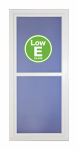 Larson Mfg 14604032E Easy Vent Selection Storm Door, Full-View Low E Glass, White, 36 x 81-In.
