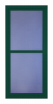 Larson Mfg 14604122 Easy Vent Selection Storm Door, Full-View Glass, Green, 36 x 81-In.