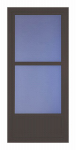 Larson Mfg 14606042 Easy Vent Selection Storm Door, Mid-View Glass, Brown, 36 x 81-In.
