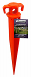 Wellington Cordage GS11 Ground Stake, Bright Orange, 11-In.