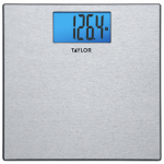Taylor Precision Products 74134102 Bath Scale, Digital, Textured Stainless Steel, 400-Lb.