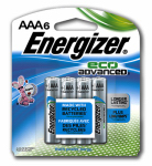 "Eveready Battery XR92BP-6 EcoAdvanced Batteries, ""AAA"", 6-Pk."