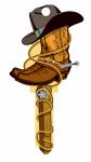 Lucky Line B132K KW1 Cowboy Key Blank