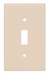 Mulberry Metals 44071 Steel Wall Plate, 1-Gang, 1-Toggle Opening, Almond
