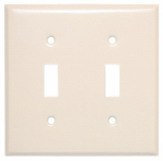 Mulberry Metals 44072 Steel Wall Plate, 2-Gang, 2-Toggle Opening, Almond