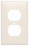 Mulberry Metals 44101 Steel Wall Plate, 1-Gang, 1-Duplex Opening, Almond
