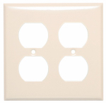 Mulberry Metals 44102 Steel Wall Plate, 2-Gang, 2-Duplex Opening, Almond