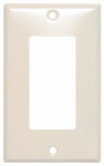 Mulberry Metals 44401 Steel Wall Plate, 1-Gang, GFCI Opening, Almond