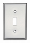 Mulberry Metals 83071 Steel Wall Plate, 1-Gang, 1-Toggle Opening, Chrome