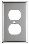 Mulberry Metals 83101 Steel Wall Plate, 1-Gang, 1-Duplex Opening, Chrome