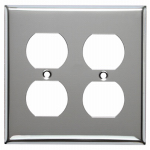 Mulberry Metals 83102 Steel Wall Plate, 2-Gang, 2-Duplex Opening, Chrome