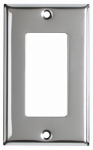 Mulberry Metals 83401 Steel Wall Plate, 1-Gang, GFCI Opening, Chrome
