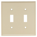 Mulberry Metals 84072 Steel Wall Plate, 2-Gang, 2-Toggle Opening, Ivory