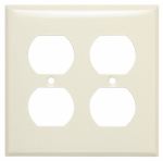 Mulberry Metals 84102 Steel Wall Plate, 2-Gang, 2-Duplex Opening, Ivory