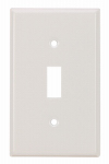 Mulberry Metals 86071 Steel Wall Plate, 1-Gang, 1-Toggle Opening, White