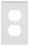 Mulberry Metals 86101 Steel Wall Plate, 1-Gang, 1-Duplex Opening, White