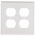 Mulberry Metals 86102 Steel Wall Plate, 2-Gang, 2-Duplex Opening, White