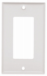 Mulberry Metals 86401 Steel Wall Plate, 1-Gang, GFCI Opening, White