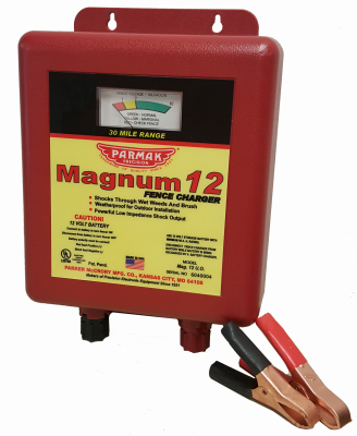 Parmak MAG12UO Electric Fence Charger, 30-Mile, Low Impedanc