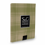 Myles International TCY6033510 Tablecloth, American Plaid, Sage/Beige, Oblong, 60 x 104-In.