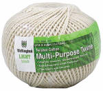 Wellington Cordage 16195 Puritan #18 x 400-Ft. Natural Twisted Cotton Cable Cord