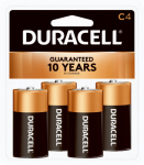 "Duracell Distributing Nc MN1400R4ZX Alkaline Batteries, ""C"", 4-Pk."