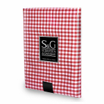 Myles International TCY6055660 Tablecloth, Mini-Gingham Check, Red/White, Round, 60-In.