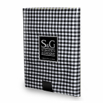 Myles International TCY6059060 Tablecloth, Mini-Gingham Check, Black/White, Round, 60-In.