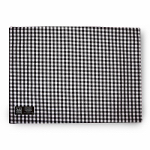 Myles International TCY60590PM Mini-Gingham Check Placemat (Black/White)