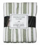 J & M Home Fashions 3537 3PK 18x28 GRN Kit or Kitchen Towel