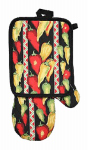 J & M Home Fashions 7267 2PC Cal Pot Holder/Mitt