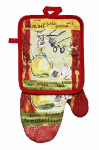 J & M Home Fashions 7268 2PC Oil Pot Holder/Mitt