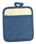 J & M Home Fashions 7376 7x8 BLU Pot Mitt