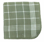 J & M Home Fashions 7390 4PK13x13 GRN Dish Cloth
