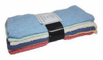 J & M Home Fashions 7414 12PK Rainbow Washer or Washing Cloth