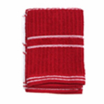 J & M Home Fashions 10564 4PK RED Dish Cloth