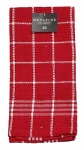 J & M Home Fashions 7474 2PK 18x25 RED Kit or Kitchen Towel