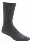 Wigwam Mills F1055-052-L At Work King Cotton Crew Sock Black -  Large