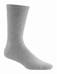 Wigwam Mills F1055-058-MD At Work King Cotton Crew Sock Grey -  Medium
