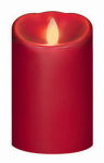 Sterno Home IGFT88205CB00 LED Flameless Candle, Red, 3 x 5-In.