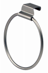 Spectrum Diversified Designs 16871 Towel Ring, Over The Cabinet/Drawer, Brushed Nickel
