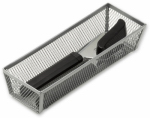 Honey Can Do Intl KCH-02159 Drawer Organizer, Steel Mesh, 9 x 3 x 2-In.