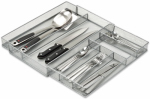 Honey Can Do Intl KCH-02163 Drawer Organizer, Expandable, Silver Steel Mesh, 16.5 x 20.25 x 2-In.