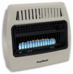 World Mktg Of America/Import KWD378 Vent-Free Gas Wall Heater, Ambient Flame, Dual Fuel, 30,000 BTU