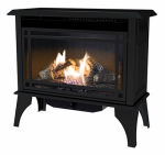 World Mktg Of America/Import GSD2845 Gas Stove, Vent-Free, Dual Fuel, Black, 30,000-BTU