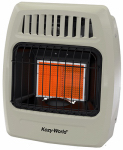 World Mktg Of America/Import KWN211 Infrared Vent-Free Wall Heater, Natural Gas, 2 Plaques, 12,000-BTU