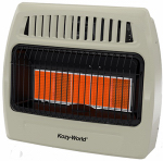 World Mktg Of America/Import KWN521 Infrared Vent-Free Wall Heater,  Natural Gas,  5 Plaques, 30,000 BTU